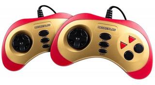 Consola Level Up Retroplay roja y dorada