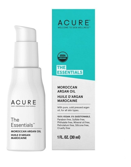 Aceite Marroquí Argán 30ml Acure Puro Prensado Frío Morocca