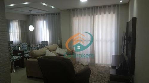 Imagem 1 de 20 de Apartamento À Venda, 64 M² Por R$ 345.000,00 - Ponte Grande - Guarulhos/sp - Ap1991