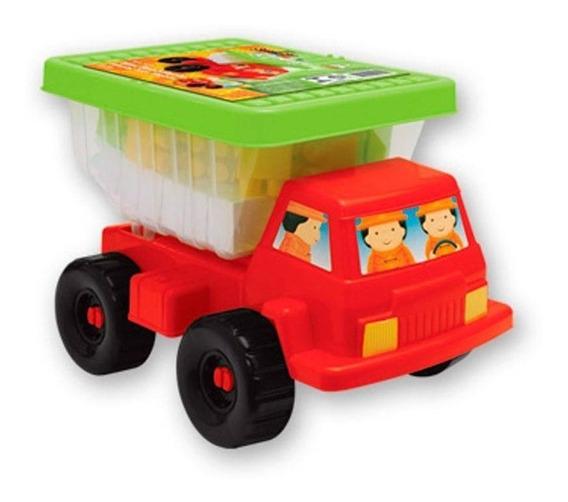 Caminhão Mini Basculante Com Blocos De Encaixar Gulliver