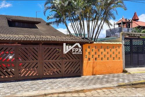 Casa No Balneário Gaivota, Em Itanhaém Lado Praia Ca198-f