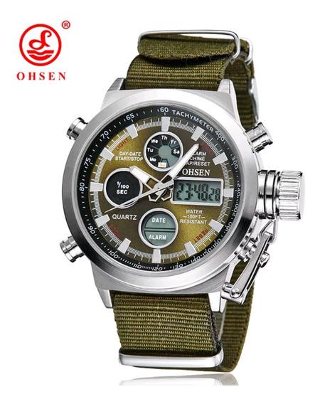 Relógio Masculino Estilo Militar Analógico Digital Ohsen