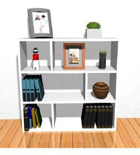 Biblioteca De Apoyo Cubo Minimalista Estante Repisa 18mm C/l