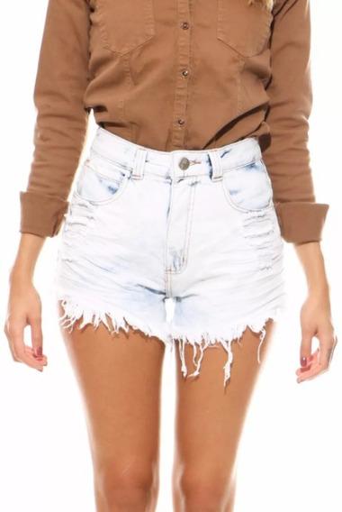 Shorts Jeans Lady Rock Cos Alto Cintura Alta