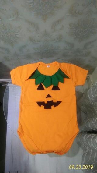 Fantasia Body Customizado Halloween Bebê Abóbora