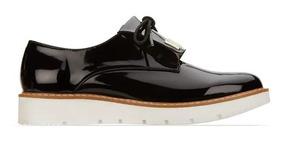 Flat Andrea Mujer Color Negro Tipo Oxford Plataforma 2523729