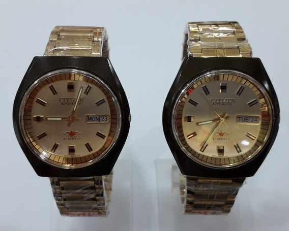 Kit 2pcs Relogio Citizen Automatico Pulseira De Metal