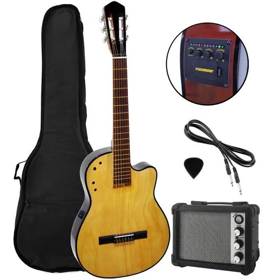 Guitarra Electroacustica Criolla Ampli Eq Fishman Afinador