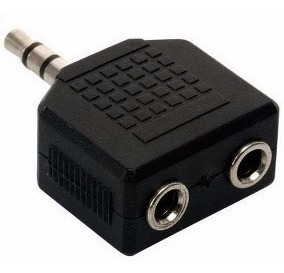 Adaptador Miniplug A Doble Miniplug