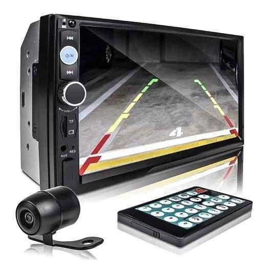 Central Mp5 Bluetooth Espelhamento + Moldura Fit 04
