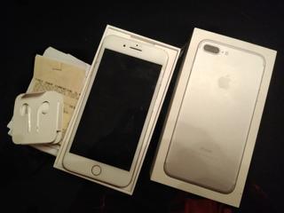Celular iPhone 7 Plus 256gb (prata) Nfe Completo C/capinhas