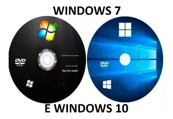 Dvd Formatação/instalação Wind©ws 7 + 10 + E Office