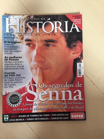 Revista Aventuras Na História 9 Ayrton Senna Fórmula 1 Z052