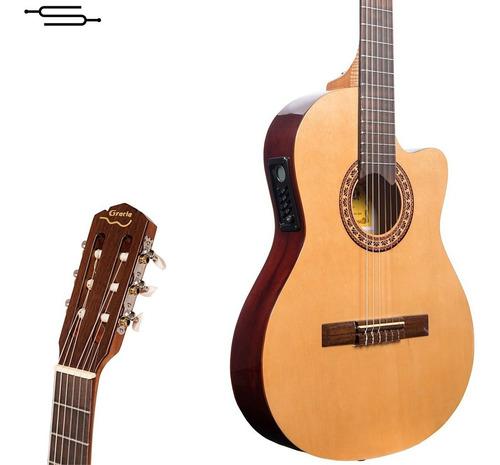 Imagen 1 de 7 de Guitarra Electro Criolla Gracia G10 Eq 1/2 Media Caja Cuotas