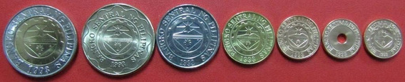 Filipinas Set De 7 Monedas 2007 - 2010 Unc Sin Circular