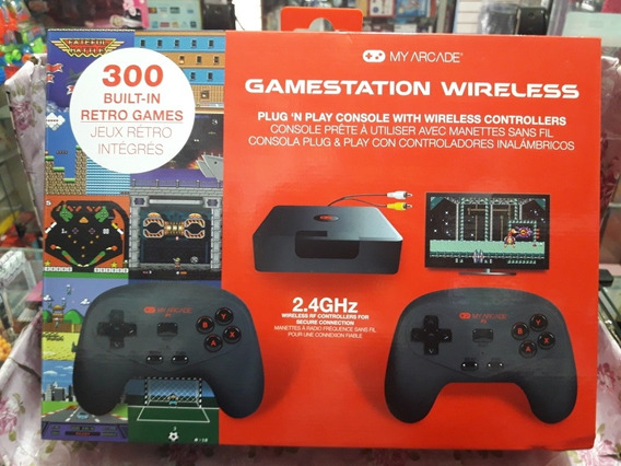 Console My Arcade Gamestation 300 Jogos Sem Fio Promocao