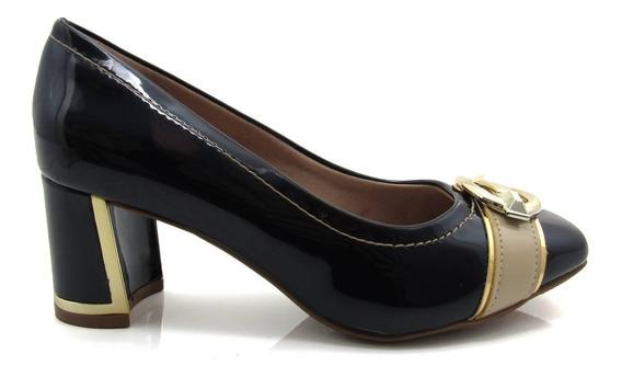 Sapato Feminino Scarpin Salto Grosso Crysalis