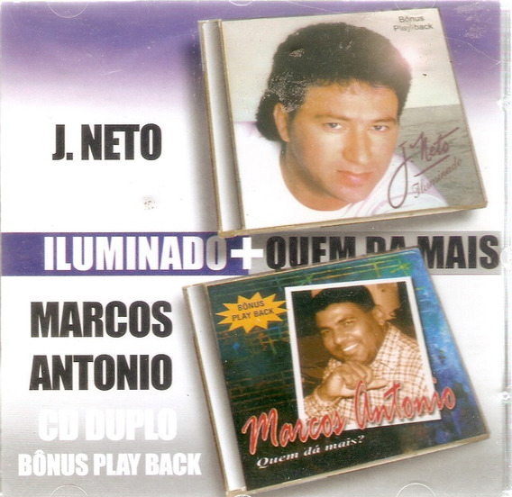 Cd Duplo J. Neto E Marcos Antonio - Novo Lacrado***