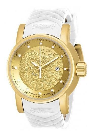 Relógio Invicta Yakuza Original Automatico Branco 19546 12x