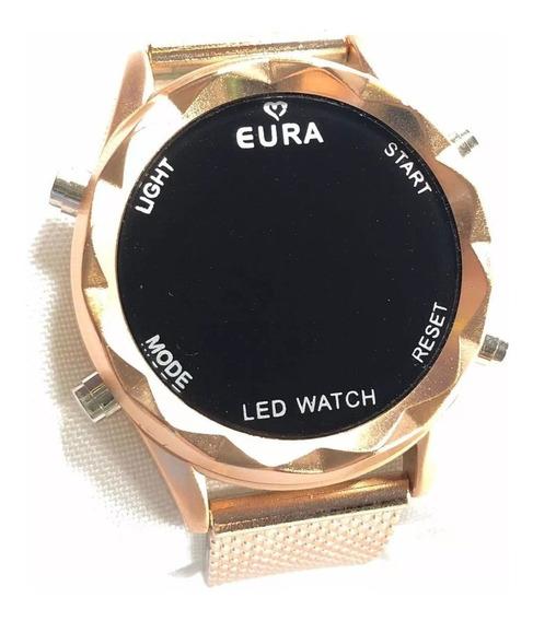 10 Relógios Eura Digital Touch + Caixinha + Atacado +revenda