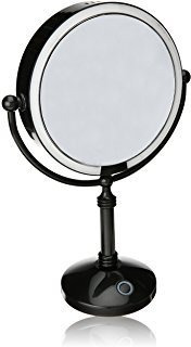 Modern Mirror Led Lighted 7.5 Makeup Mirror With 10x Magnif