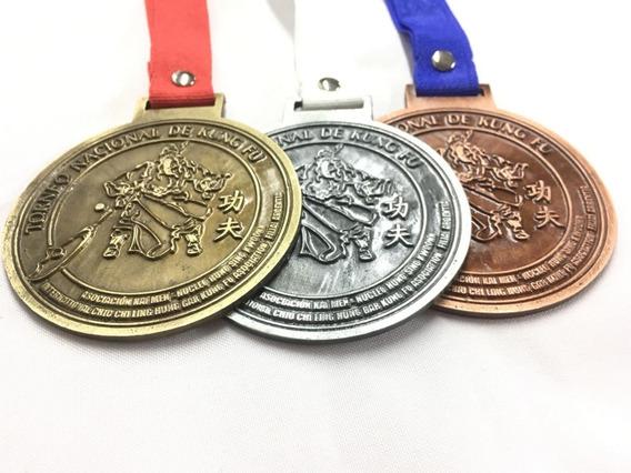 Medallas Con Logo 100 Mm Doble Faz Diseño Propio De Metal