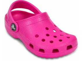Sandália Crocs Classic Infantil Rosa Vibrante 100% Original