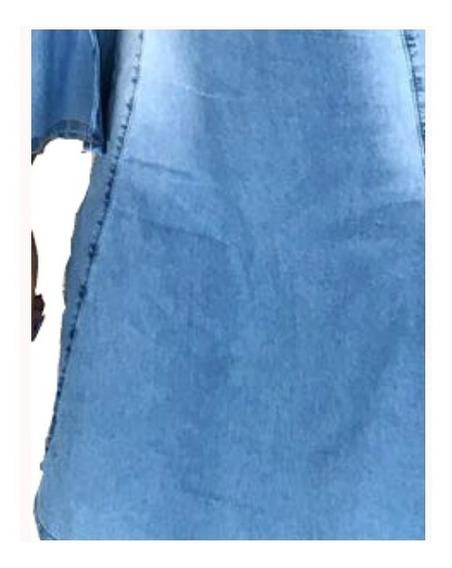 Roupas Femininas Vestido Médio Jeans Flare Promoção Juli