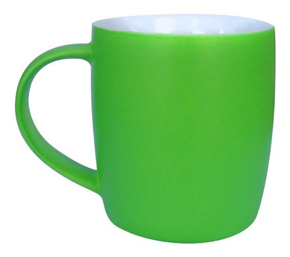 Taza Cafe Merienda Mate Color Verde 400ml