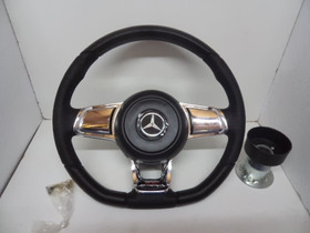 Volante Mk7 Cromado  Caminhao Mercedes Benz Mb Acello