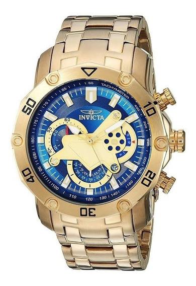 Relógio Invicta Pro Diver 22765 Banhado Ouro Original