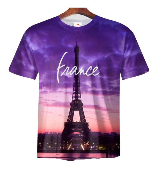 Remera Sublimada Francia Paris Ranwey Cs127
