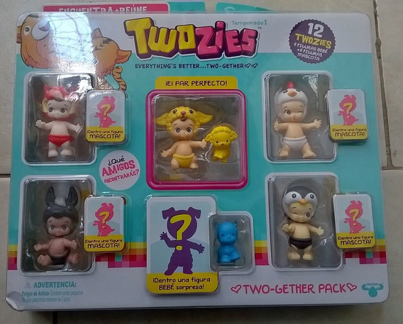 Twozies Pack 12 Twozies Borrego, Pingüino Burro Twozies 12