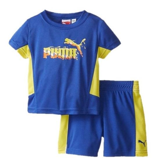 Conjunto Puma Verão Menino Bebe Camiseta Bermuda Original