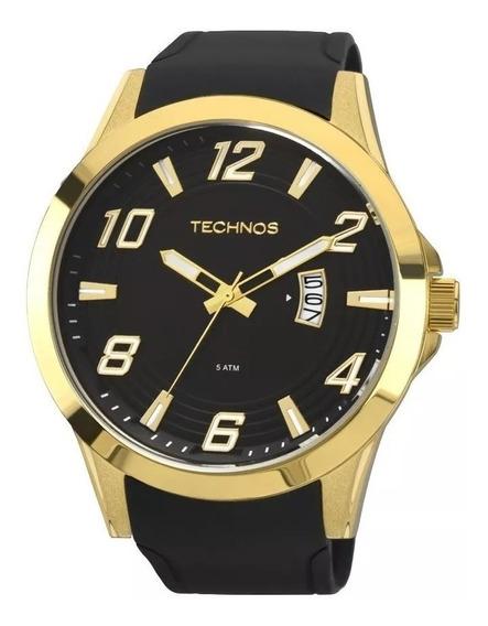 Relógio Masculino Technos Dourado Com Garantia Nf 2115kqa/8p