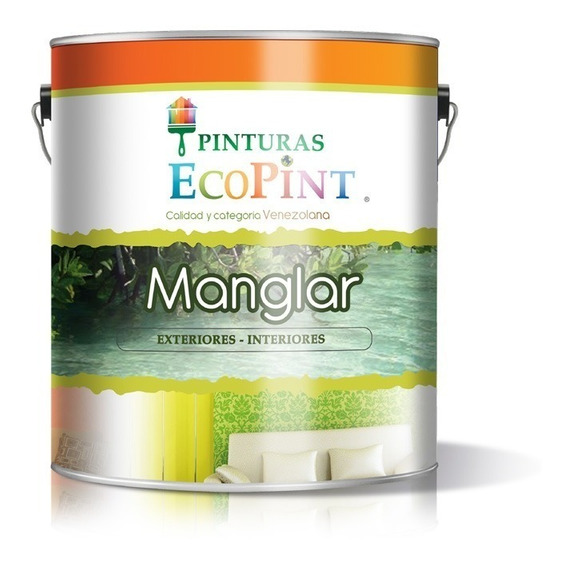Pintura Blanca Galón Ecopint Manglar Clase C