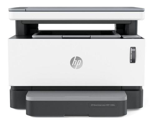 Impressora multifuncional HP Neverstop 1200A 110V - 127V branca e cinza