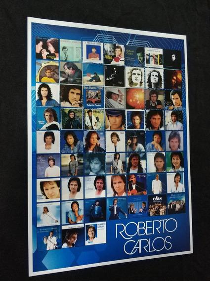 Poster De Coleção Roberto Carlos Discografia Roberto Carlos