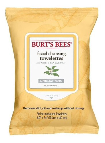 Toallitas Desmaquillantes Burt's Bees Extracto De Té Blanco