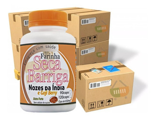 Kit 24 Farinha Seca Barriga Com Goji Berry 120 Capsulas