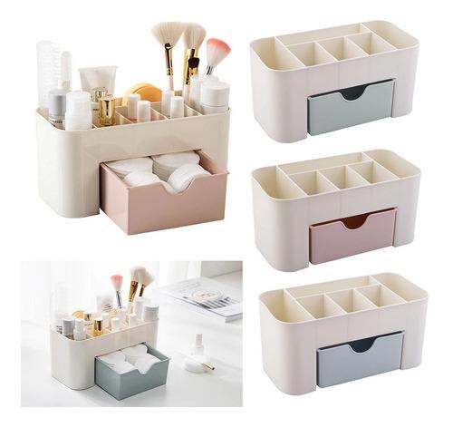 3 Organizador Porta Maquiagem Jóias Gaveta Plástico Banheiro