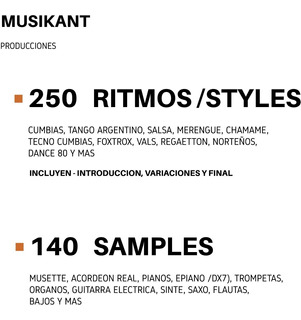 Samples Y Ritmos - Cumbias - P/ Korg Pa 300/ 600/900