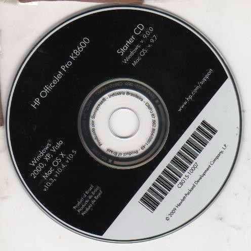 Cd De Instalação Para Impressora Hp Officejet Pro K8600