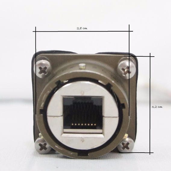 Conector Modular Amphenol Rjftv22g00 Ethernet Rj45 Comp.15cm