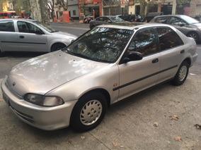 Honda Civic Sedan Ex Full Con Gnc 1994 Gris Plata
