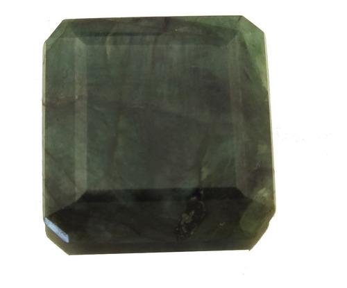 Pedra Preciosa Natural Esmeralda Fabricação Joia Anel J21465