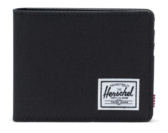 Billetera Herschel Hank black poliéster 600d