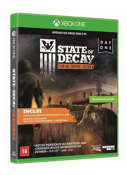 Jogo State Of Decay Year One Survival Edition Usado Xbox One
