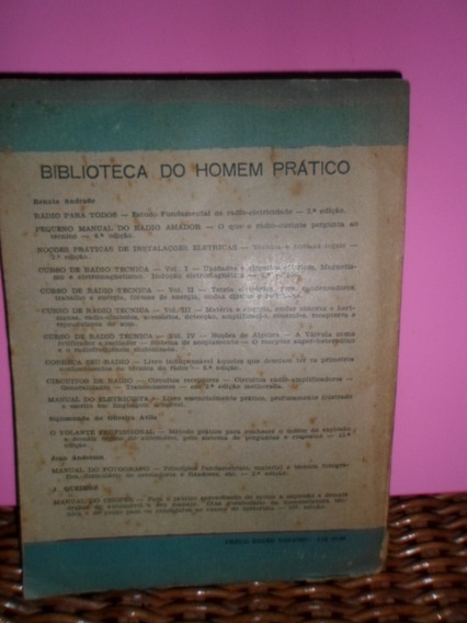 Manual Do Chofer - Livro Antigo E Raro - 1956