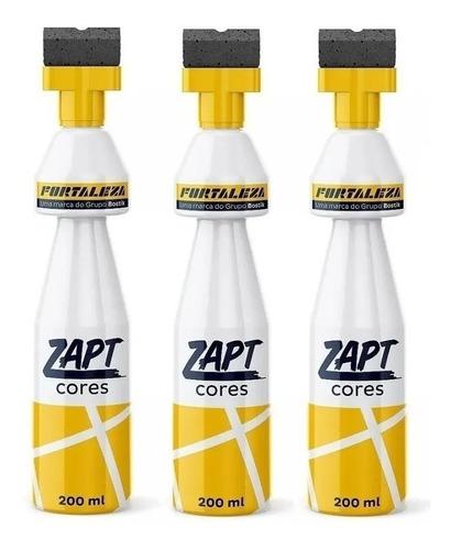 Kit Com 3 Zapt Tinta Para Rejunte Branco 200ml